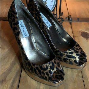 Steve Madden Peep Toe Cheetah Print